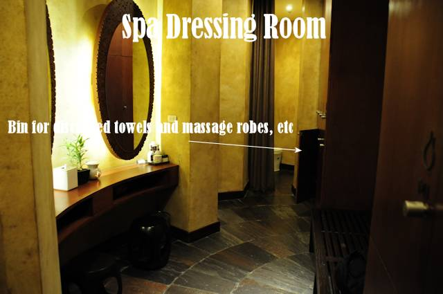The Spa dressing room