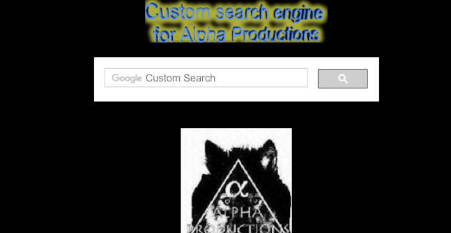 Alpha Productions Search Engine
