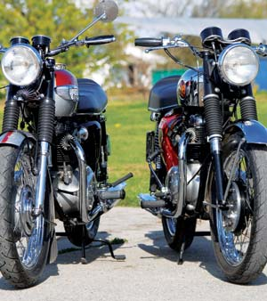 Triumph Bonneville and BSA 650 Lightning