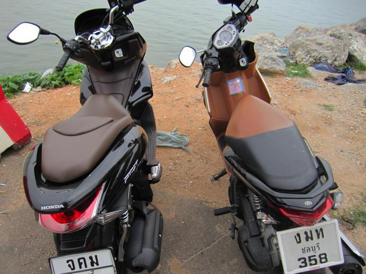 Honda PCX 125 and Nouvo Elegance