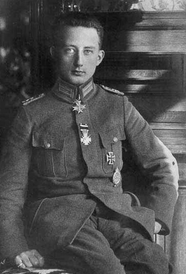 Lieutenant Werner von Voss was only 20 years old when he was killed.