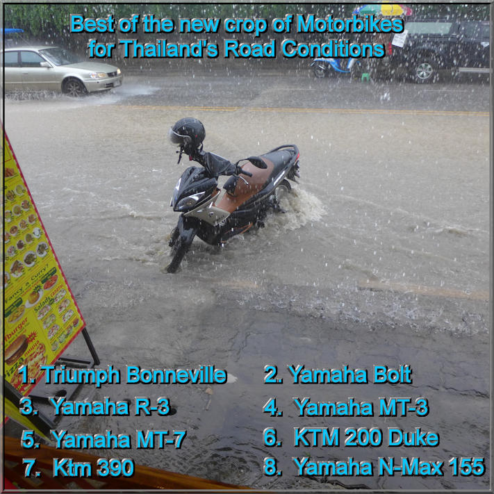 Of these 8 bikes which is the most versatile Thailand motorbike