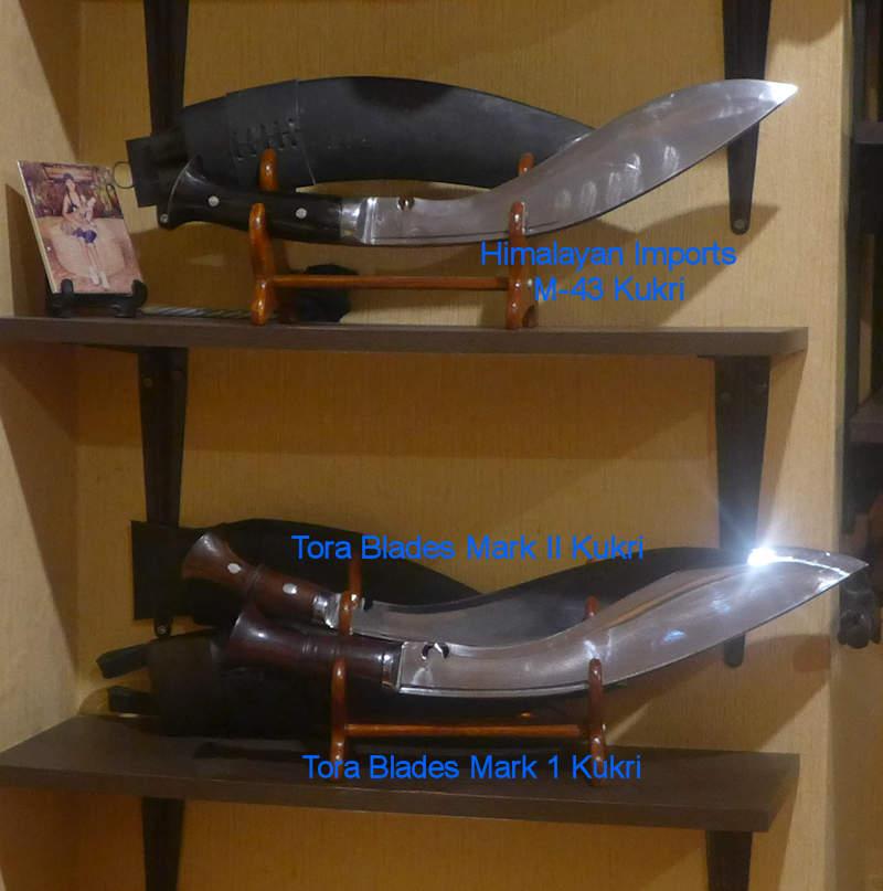 Tora Blades Mk1 Kukri and the Mk2