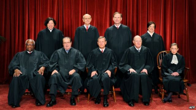 Five of these justices of the U.S. Supreme Court voted for irreversible climate change