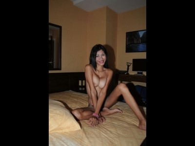 Ladyboy with silicon enhanced breasts