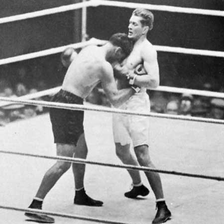 Tunney and the ferocious Jack Dempsey