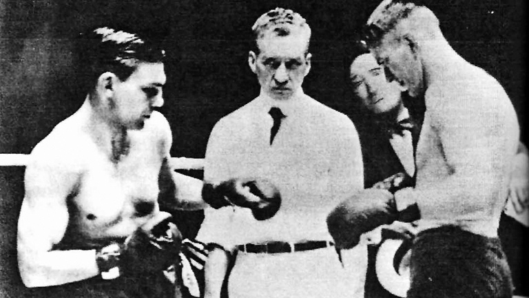 Gene Tunney fighting Harry Greb