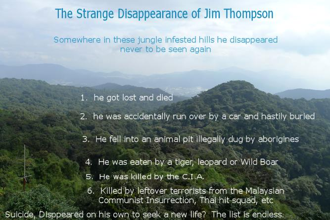 Mysterious disappearance of Jim Thompson