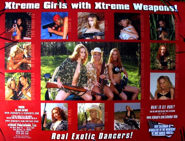 Xtreme Weapons calendar